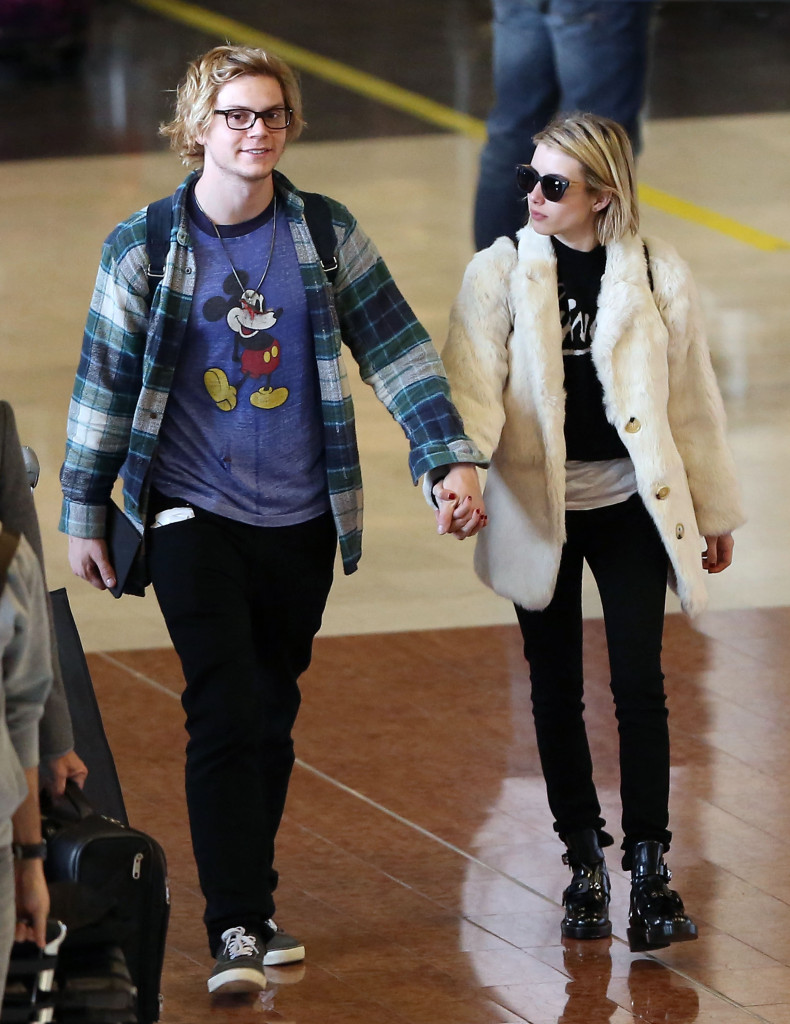 Emma Roberts & Evan Roberts Touch Down In Paris