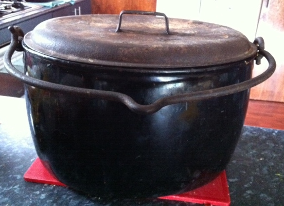 My Dad's 4 Gallon Pot. Perfect for cooking relish!